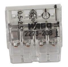 Laidų jungės Wago 2273-208, 8 x 0,5-2,5 mm², 5 vnt.