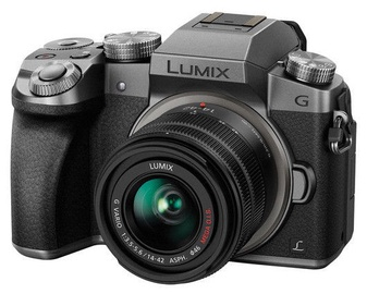 Panasonic Lumix DMC-G7 LUMIX G VARIO 14-140mm f/3.5-5.6 ASPH. POWER O.I.S. Silver