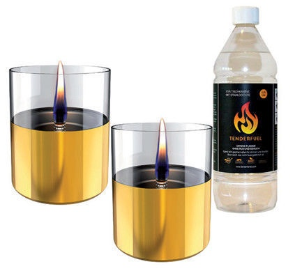 Tenderflame Lilly Table Burner Set 10cm Gold
