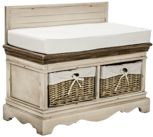 Home4you Hall Bench Samira Antique White/Brown 13729