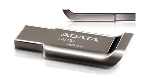 USB atmintinė ADATA UV131 Grey, USB 3.0, 64 GB