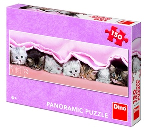 Puzle Dino Panoramic Kittens, 150 gab.