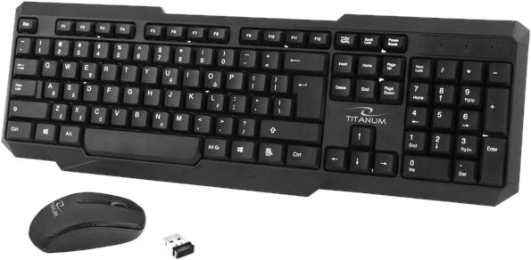 Esperanza Titanum TK108 Mephis Wireless Keyboard + Mouse Black