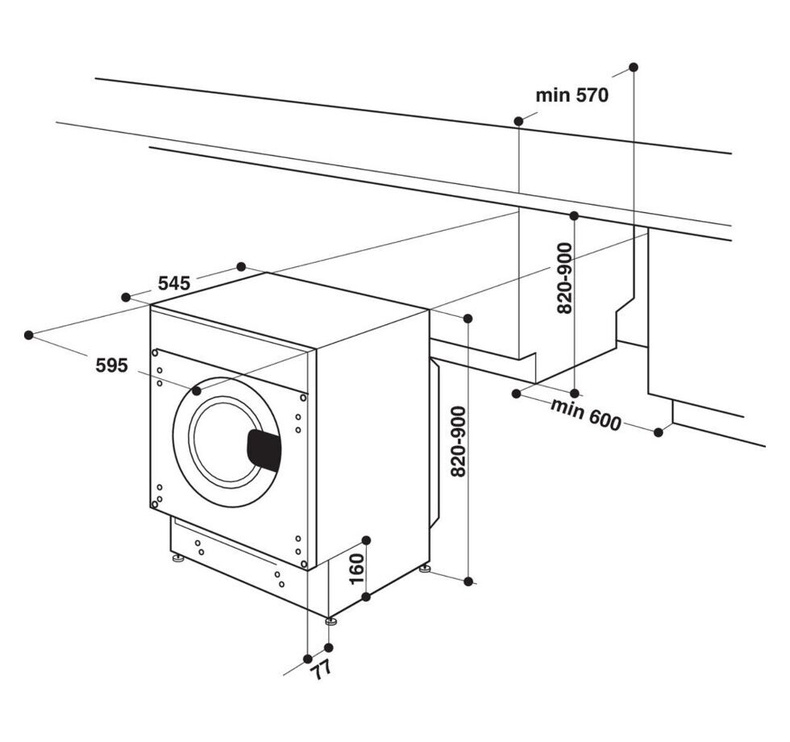 Iebūvējama veļas mašīna Whirlpool BI WDWG 751482 EU N