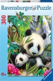Puzle Ravensburger Lovely Panda 13065, 300 gab.