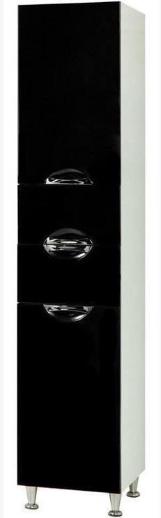 Шкаф для ванной Sanservis Laura-40 Black 40x196.5x41cm