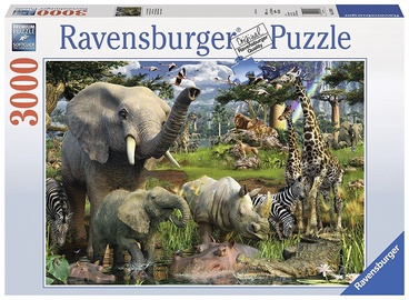 Ravensburger Puzzle Animals At The Water Point 3000pcs