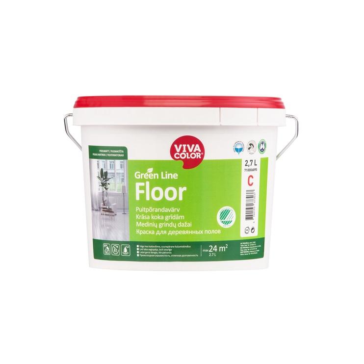 Dažai Vivacolor, Green Line Floor, C bazė, 2.7 l