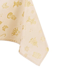 AmeliaHome Christmas Story Tablecloth HMD Gold 140x400cm