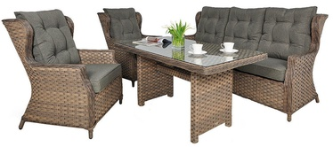 Black Red White Trivento 3 Garden Furniture Set