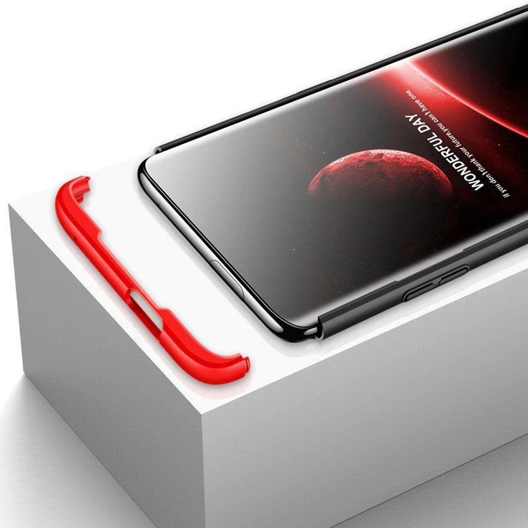 GKK 360 Protection Case For OnePlus 7 Black/Red