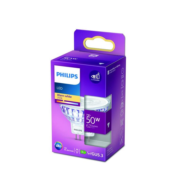 Spuldze Philips 929001904855, GU5.3, 7 W, 621 lm, silti balta