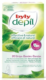 Byly Depil Body Hair Removal Strips 12pcs Mint & Green Tea