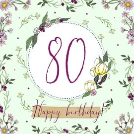 Clear Creations 80 Age Card CL2280