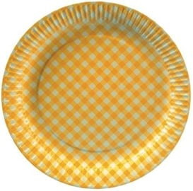Pap Star Invitation Paper Plates 20pcs Yellow