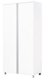 Skapis Bodzio AG07 White, 90x52x190 cm