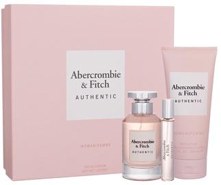 Abercrombie & Fitch Authentic Women 100ml EDP + 15ml EDP + 200ml Body Lotion
