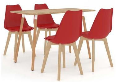 Обеденный комплект VLX Dining Set 287245/289137, красный