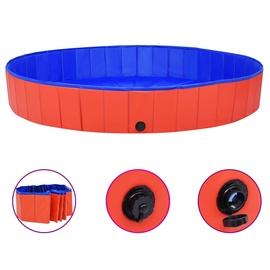 Бассейн VLX Dog Swimming Pool, синий/красный