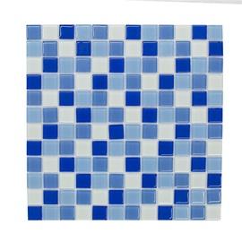 Stiklo mozaikos melsva C049, 30x30 cm