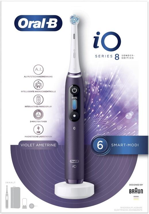 Электрическая зубная щетка Braun Oral-B AiO 80335729, белый/фиолетовый