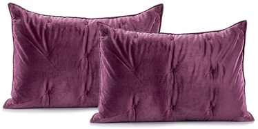 DecoKing Daisy Pillowcase Berry/Mauve 50x70 2pcs