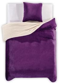 DecoKing Teddy Bedding Set Purple 200x200/80x80 2pcs