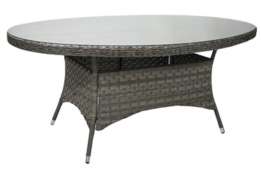 Home4you Geneva Oval Garden Table Grey