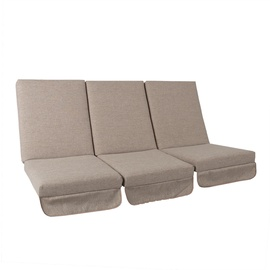 Home4you Montreal Swing Cushions 114x52x9cm Beige 3pcs