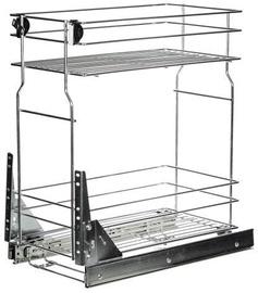 Bodzio Kitchen Cabinet Cargo Basket 30cm Metallic