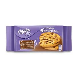 Sausainiai Milka su šokolado įdaru, 156 g