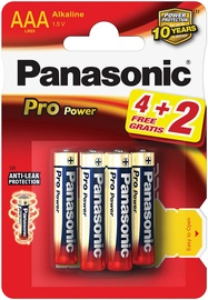 Panasonic LR03PPG Pro Power 4+2 x AAA Batteries