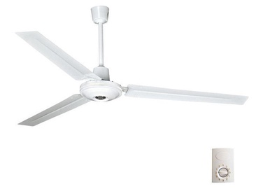 Eurolamp 147-29012 Ceiling Lamp w/ Fan 80W White