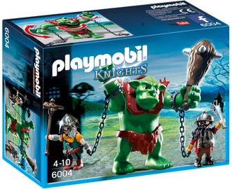 Playmobil Knights Giant Troll With Dwarf Fighters 6004