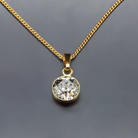 Diamond Sky Pendant Classic Silver Patina With Swarovski Crystals