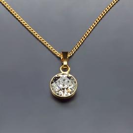Diamond Sky Pendant Classic Silver Patina With Swarovski Crystals