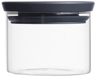Brabantia Stackable Glass Jar 0.3l Dark Grey