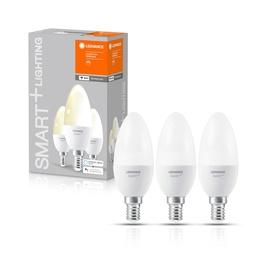 Viedā spuldze Ledvance LED, E14, B38, 5 W, 470 lm, 2700 °K, silti balta, 3 gab.