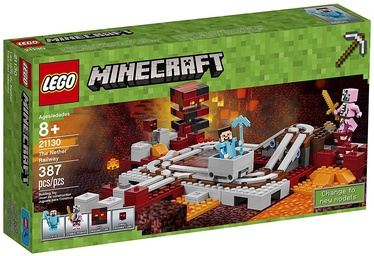 Konstruktorius LEGO Minecraft The Nether Railway 21130
