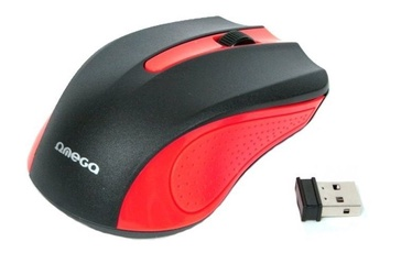 Kompiuterio pelė Omega OM-419 Red, bevielė, optinė