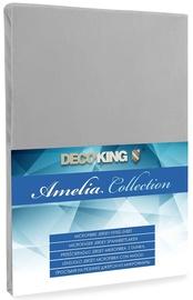 Palags DecoKing Amelia Silver, 160x200 cm, ar gumiju