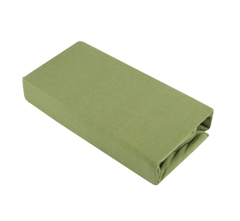 Paklodė Domoletti Jersey green, su guma, trikotažinė, 200 x 140 cm