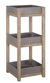 Home4you Sandstone Shelf 40x40x97cm Grey/Brown