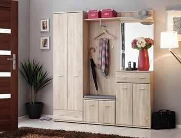 ASM Armario III w/ Pillow Hallway Wall Unit Set Sonoma Oak