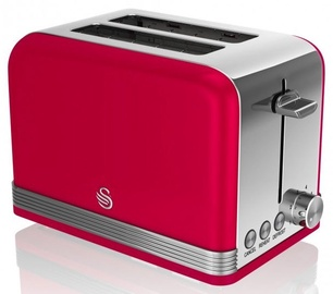 Swan 2 Slice Retro Toaster ST19010RN Red