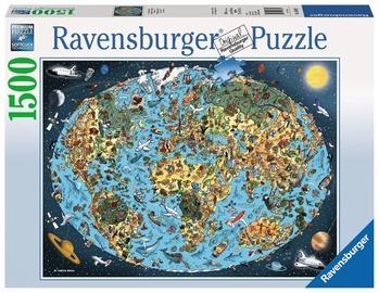 Dėlionė Ravensburger Puzzle Cartoon Earth 1500pcs