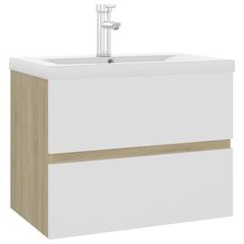 Шкаф для раковины VLX Built-in Basin, белый/дубовый, 60 x 38.5 см x 45 см