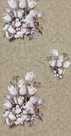 Flizelīna tapete 17804, brūna ar puķēm (12)