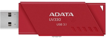 USB atmintinė ADATA UV330 Red, USB 3.1, 128 GB