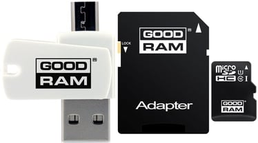 GoodRam M1A4 16GB microSDHC Class 10 + Adapter + USB Reader